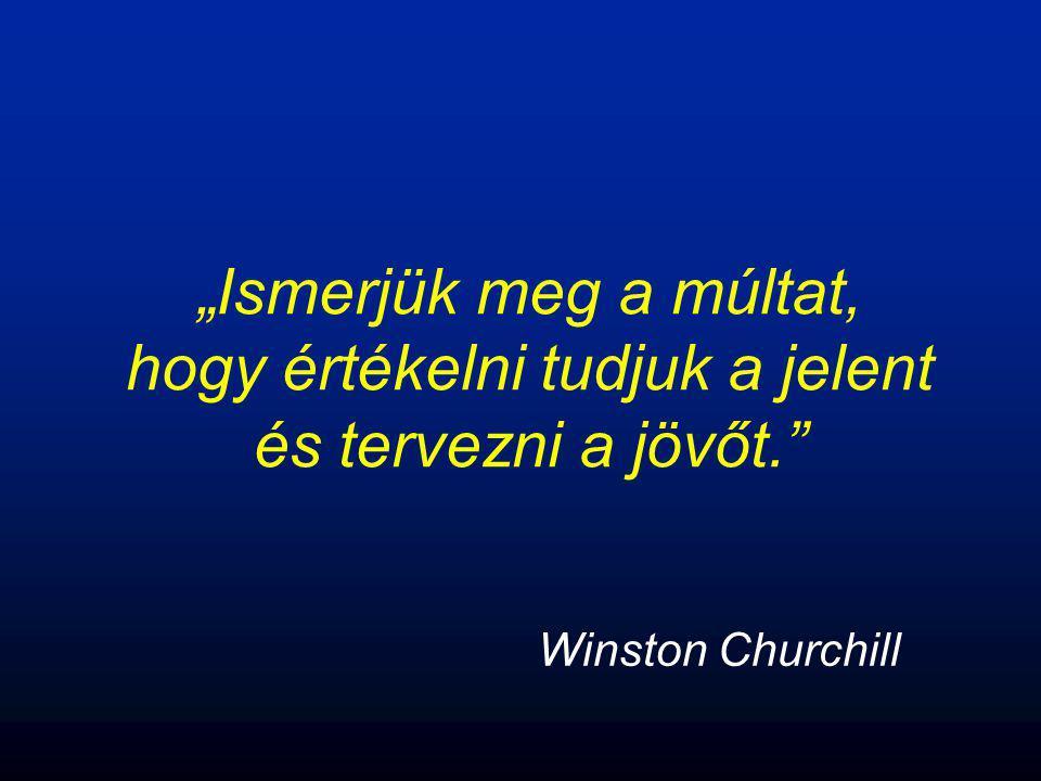 """""""Ismerjük meg a múltat, hogy értékelni tudjuk a jelent és tervezni a jövőt."""" Winston Churchill"""