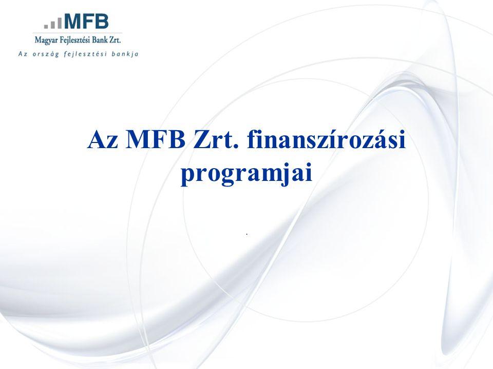 Az MFB Zrt. finanszírozási programjai.