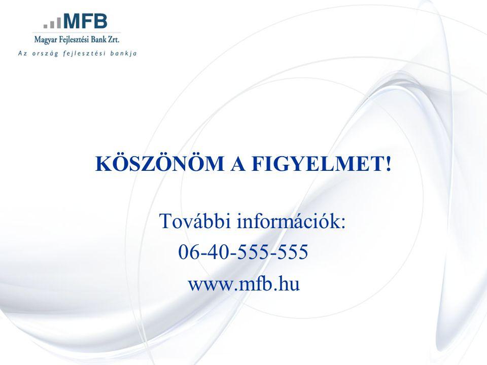 KÖSZÖNÖM A FIGYELMET! További információk: 06-40-555-555 www.mfb.hu