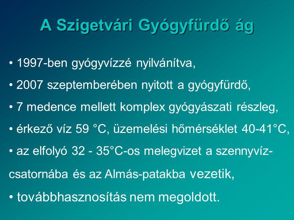 A Szigetvári Gyógyfürdő ág • 1997-ben gyógyvízzé nyilvánítva, • 2007 szeptemberében nyitott a gyógyfürdő, • 7 medence mellett komplex gyógyászati rész