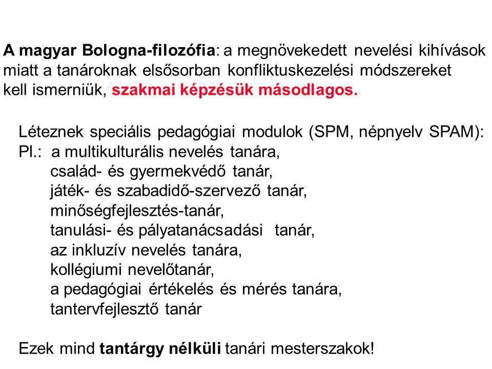 A Bologna-hátrányok összefoglalása: I.