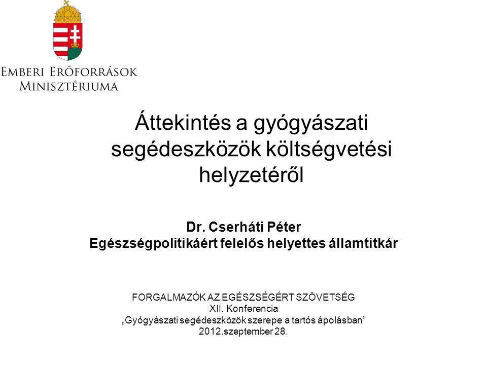Áttekintés a gyógyászati segédeszközök költségvetési helyzetéről Dr.