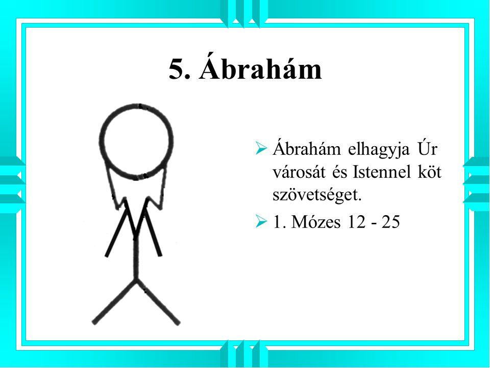 5. Ábrahám  Ábrahám elhagyja Úr városát és Istennel köt szövetséget.  1. Mózes 12 - 25