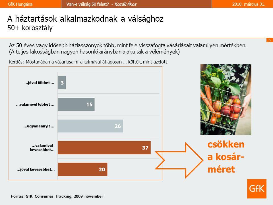 5 GfK HungáriaVan-e válság 50 felett. - Kozák Ákos2010.