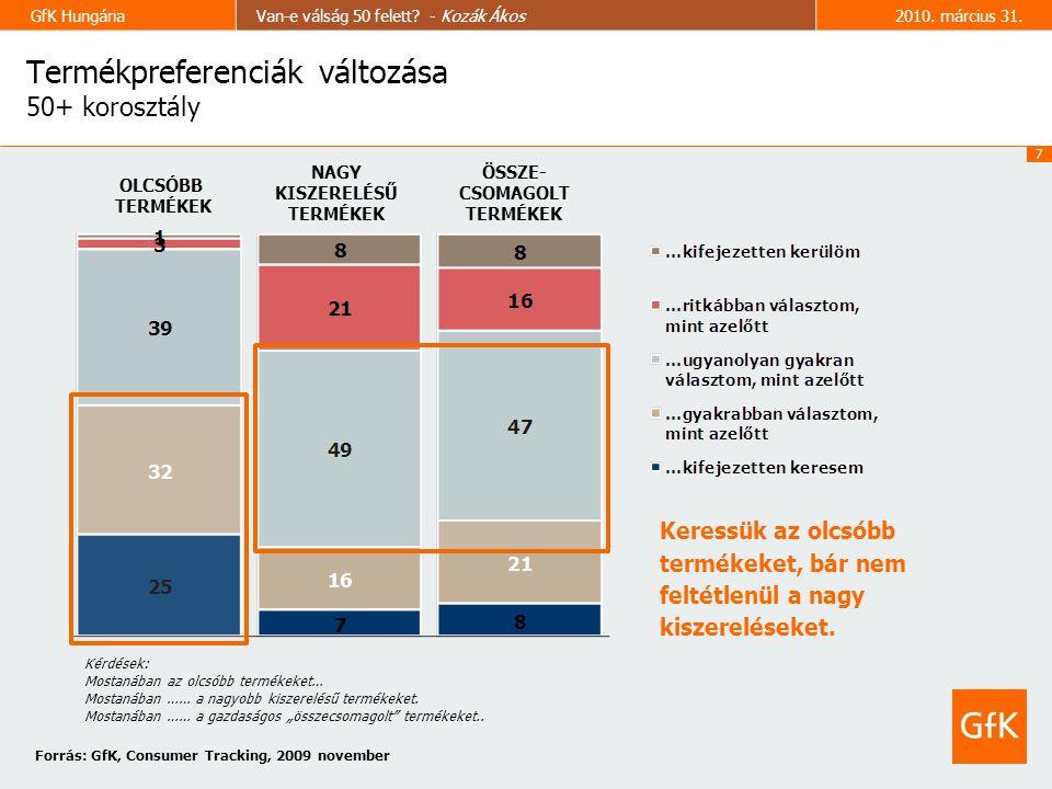7 GfK HungáriaVan-e válság 50 felett. - Kozák Ákos2010.