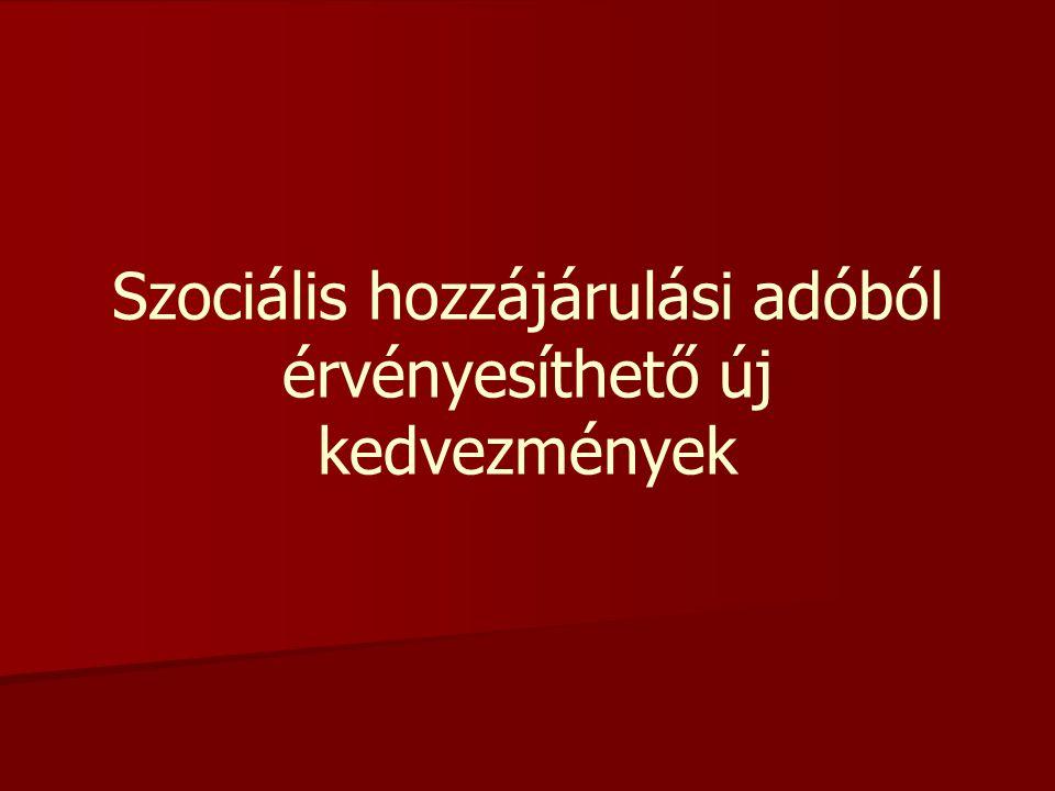 Szociális hozzájárulási adóból érvényesíthető új kedvezmények