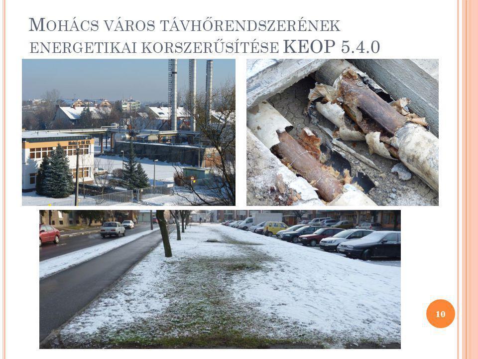 M OHÁCS VÁROS TÁVHŐRENDSZERÉNEK ENERGETIKAI KORSZERŰSÍTÉSE KEOP 5.4.0 10