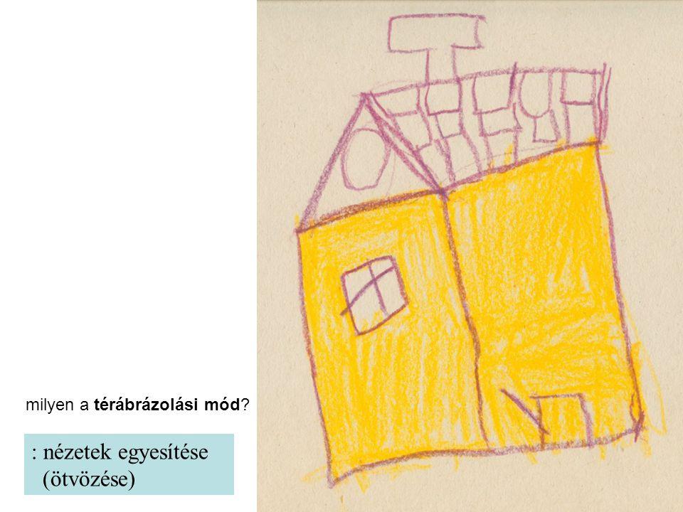 : nézetek egyesítése (ötvözése) milyen a térábrázolási mód?