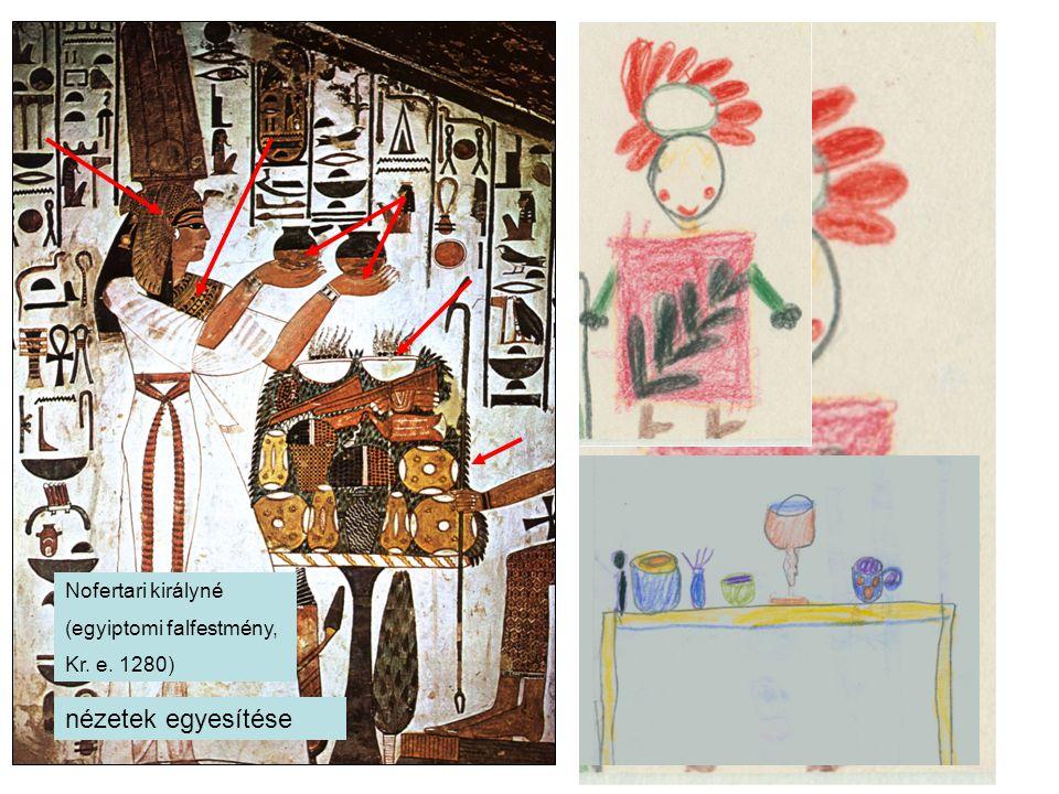 Nofertari királyné (egyiptomi falfestmény, Kr. e. 1280) nézetek egyesítése