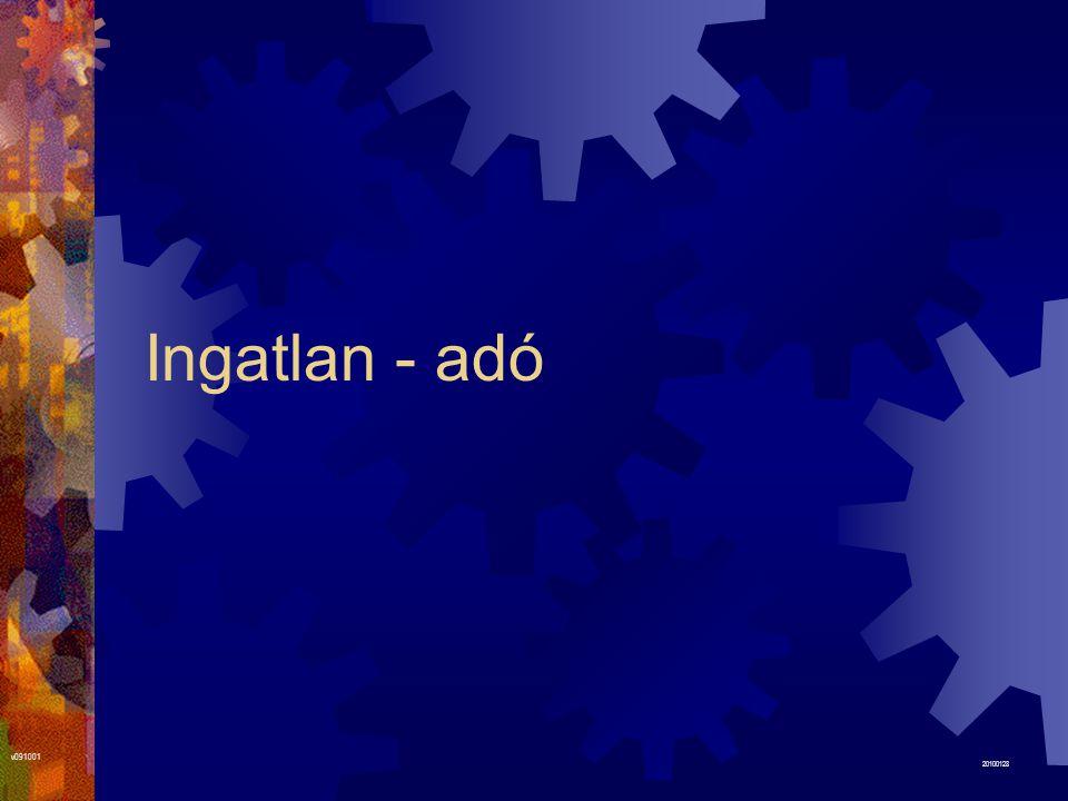 Ingatlan - adó v091001 20100128