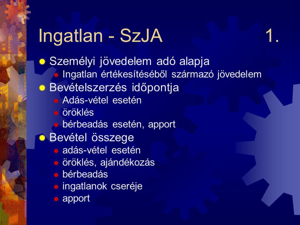 Ingatlan - SzJA1.