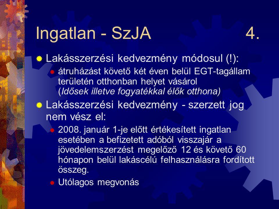 Ingatlan - SzJA4.