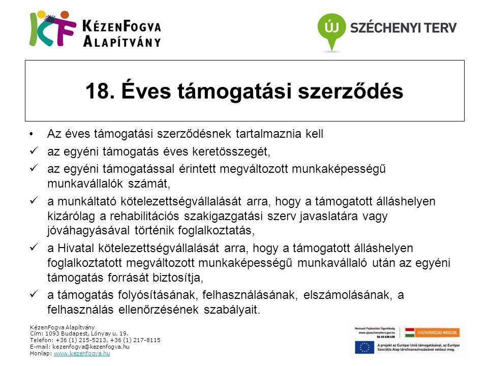 KézenFogva Alapítvány Cím: 1093 Budapest, Lónyay u. 19. Telefon: +36 (1) 215-5213, +36 (1) 217-8115 E-mail: kezenfogva@kezenfogva.hu Honlap: www.kezen