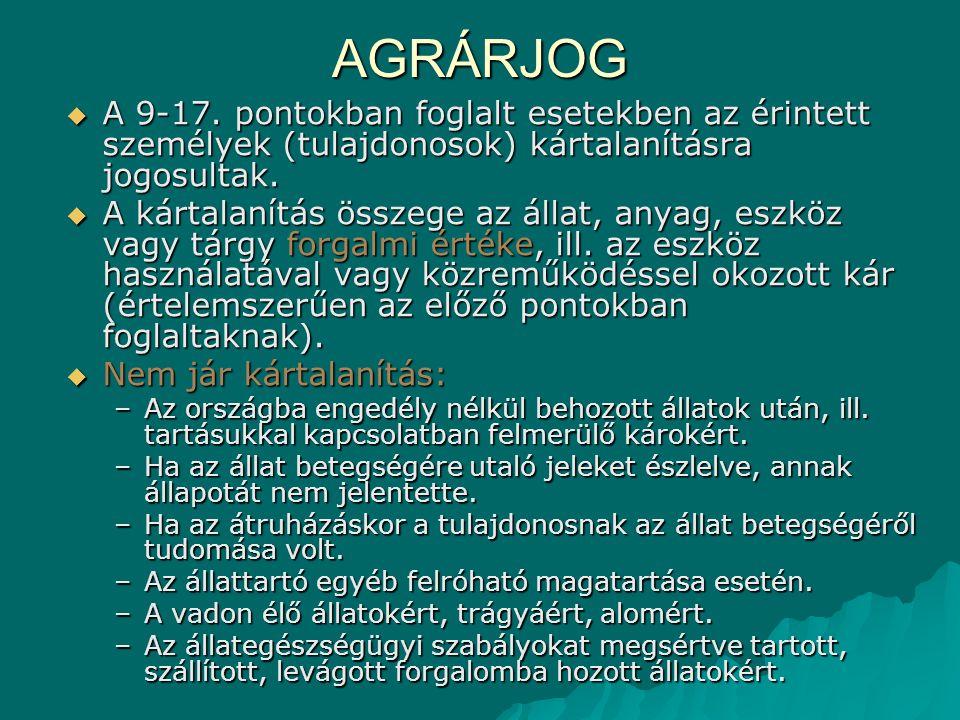 AGRÁRJOG  A 9-17.