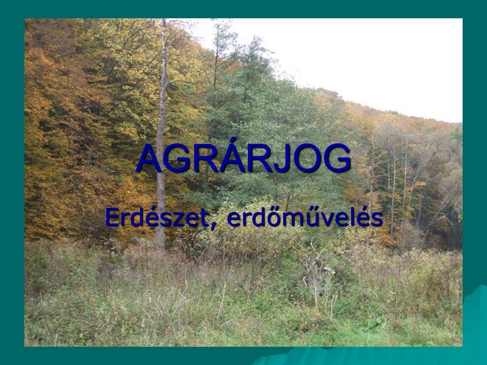 AGRÁRJOG Erdészet, erdőművelés