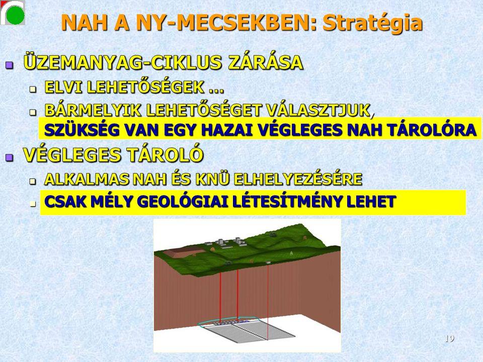 NAH A NY-MECSEKBEN: Stratégia 19