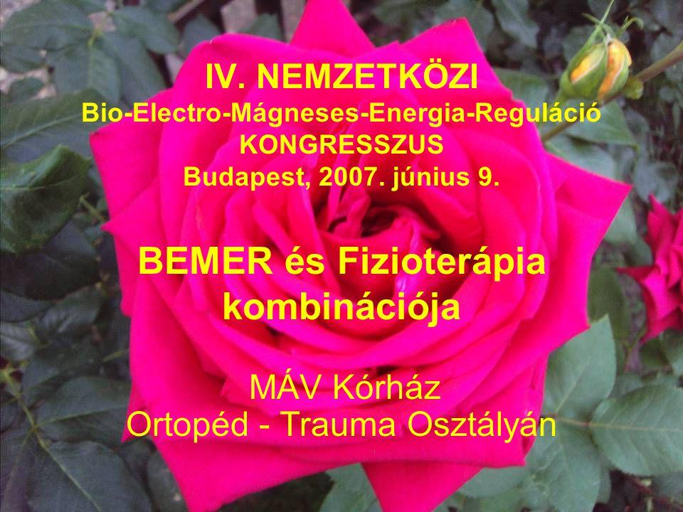 IV.NEMZETKÖZI Bio-Electro-Mágneses-Energia-Reguláció KONGRESSZUS Budapest, 2007.