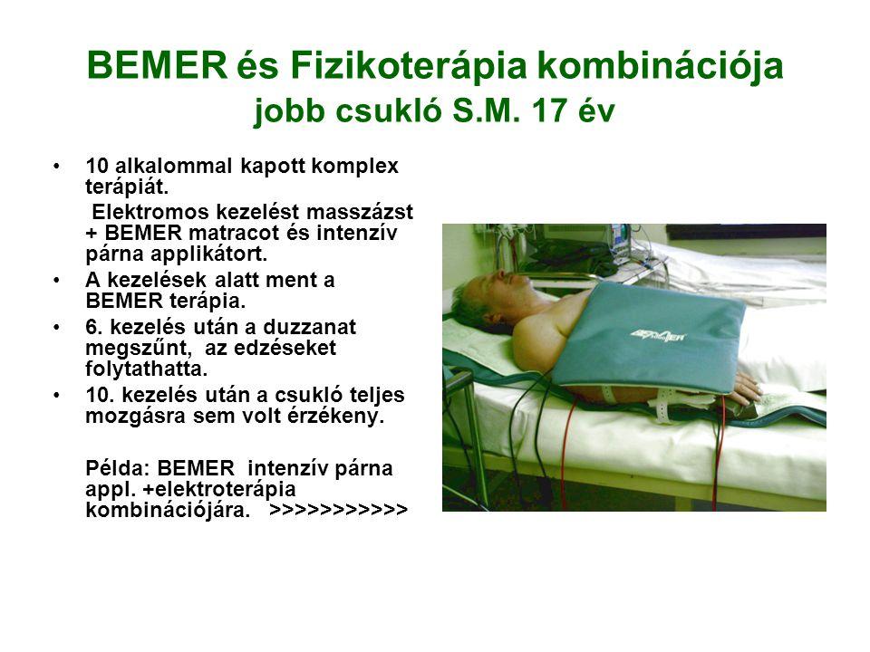 BEMER és Fizikoterápia kombinációja jobb csukló S.M.