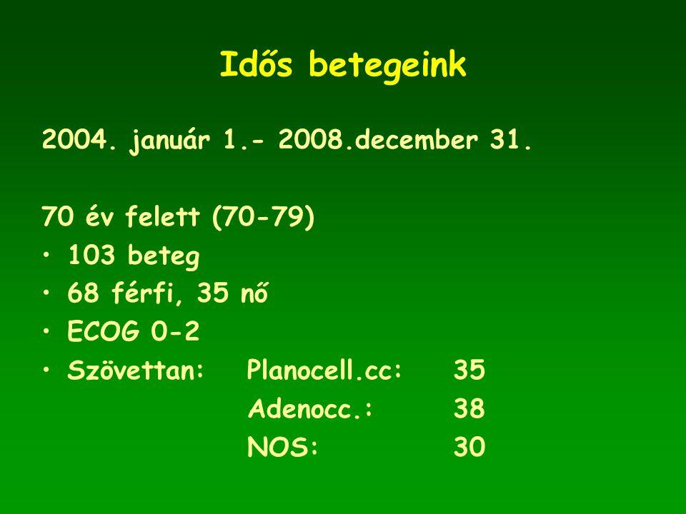 Idős betegeink 2004.január 1.- 2008.december 31.