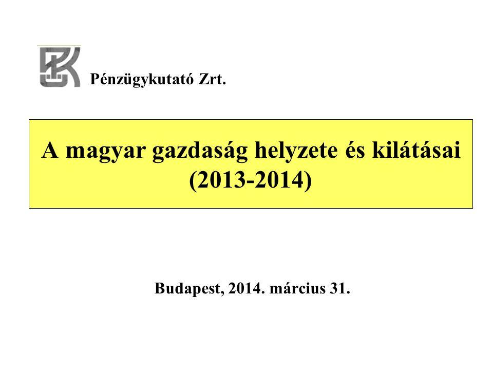 A magyar gazdaság helyzete és kilátásai (2013-2014) Budapest, 2014. március 31. Pénzügykutató Zrt.