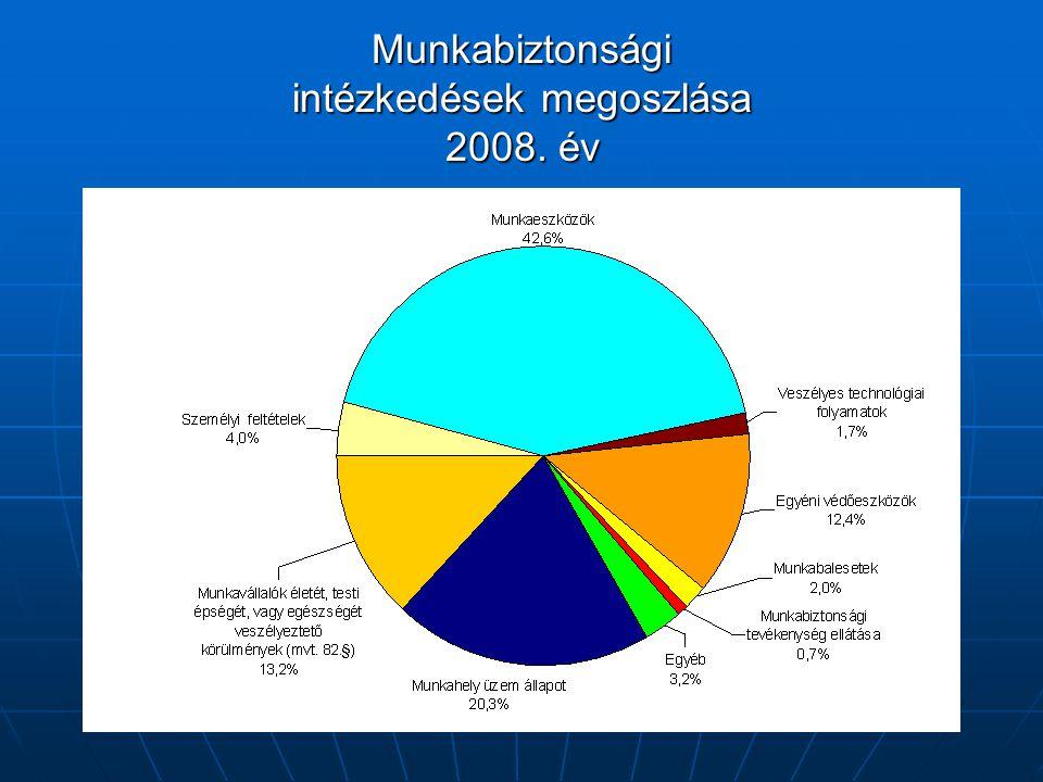 Munkabiztonsági intézkedések megoszlása 2008. év