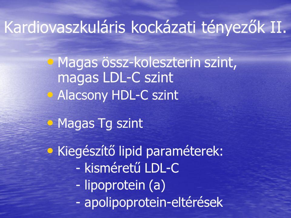 Kardiovaszkuláris kockázati tényezők II.