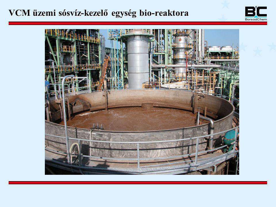 VCM üzemi sósvíz-kezelő egység bio-reaktora