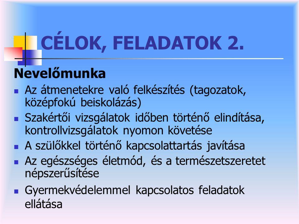 CÉLOK, FELADATOK 2.