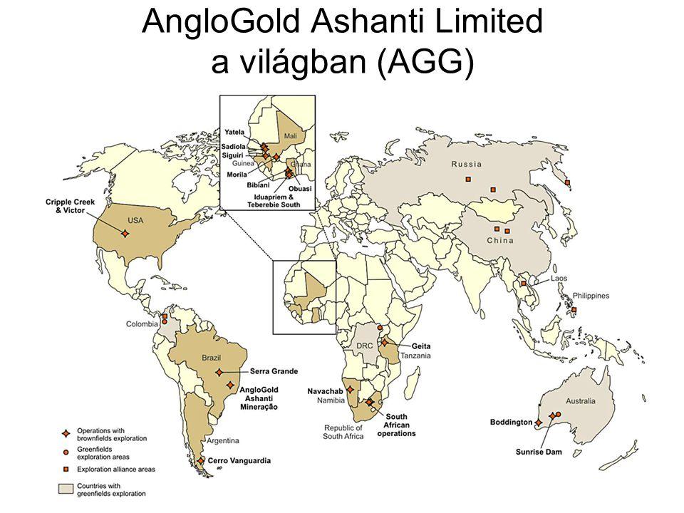 AngloGold Ashanti Limited a világban (AGG)