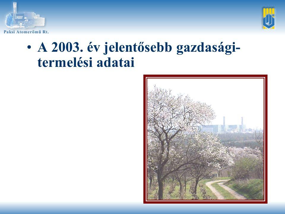 Magyarországi villamosenergia- termelés Hazai termelés: 33690 GWh Egyéb 3,3 % Olaj, gáz 35,2 % Szén 28,8 % Atom 32,7 % Import: 6930 GWh 1000 GWh 11013 GWh