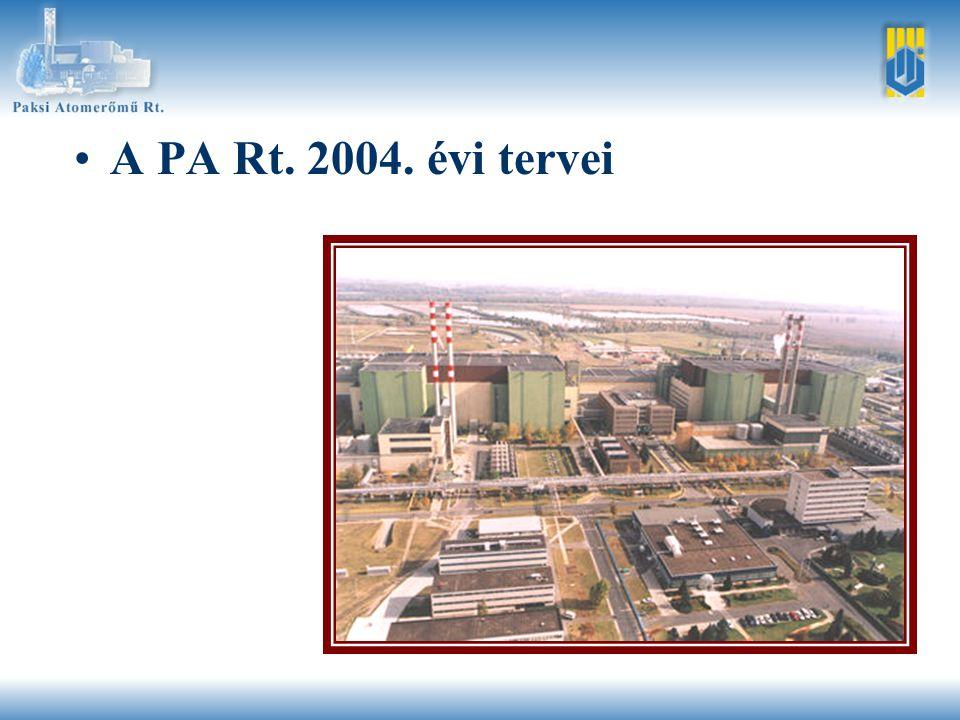 •A PA Rt. 2004. évi tervei