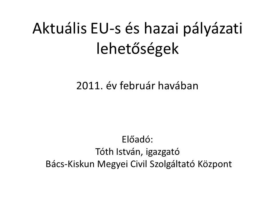 Aktuális EU-s és hazai pályázati lehetőségek 2011.