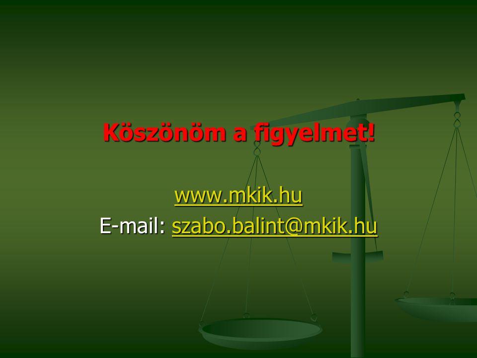 Köszönöm a figyelmet! www.mkik.hu E-mail: szabo.balint@mkik.hu szabo.balint@mkik.hu