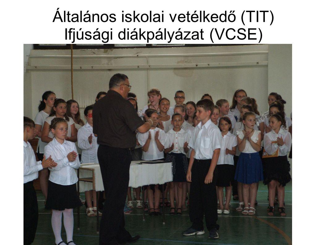 Általános iskolai vetélkedő (TIT) Ifjúsági diákpályázat (VCSE)