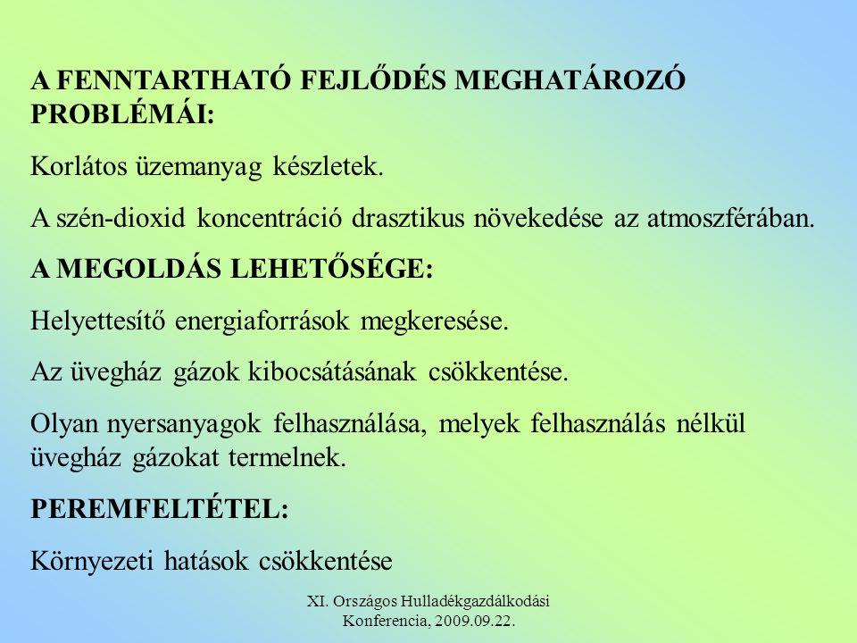 ALAPANYAG FOLYAMATOS RENDELKEZÉSRE ÁLLÁSA Magyarországon országosan a kommunális hulladékban mintegy 2,5 millió t/év mennyiségben található biológiailag lebomló szerves hulladék.