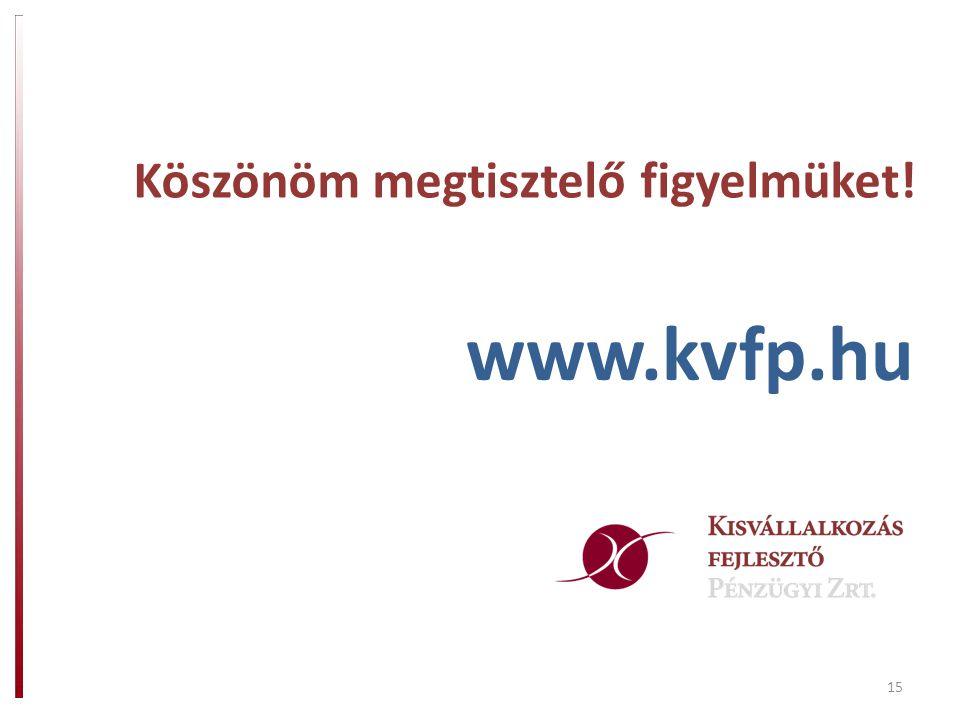 15 Köszönöm megtisztelő figyelmüket! www.kvfp.hu