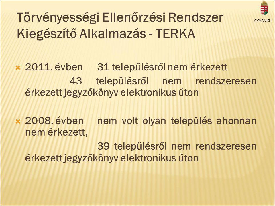 Törvényességi Ellenőrzési Rendszer Kiegészítő Alkalmazás - TERKA  2011.