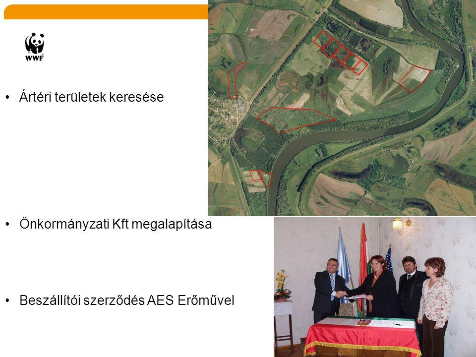 •Ártéri területek keresése •Önkormányzati Kft megalapítása •Beszállítói szerződés AES Erőművel