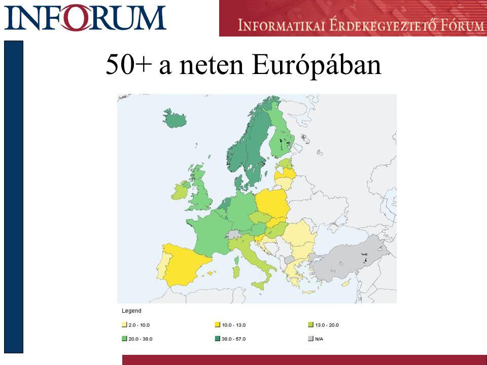 50+ a neten Európában