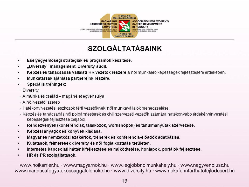SZOLGÁLTATÁSAINK •Esélyegyenlőségi stratégiák és programok készítése.