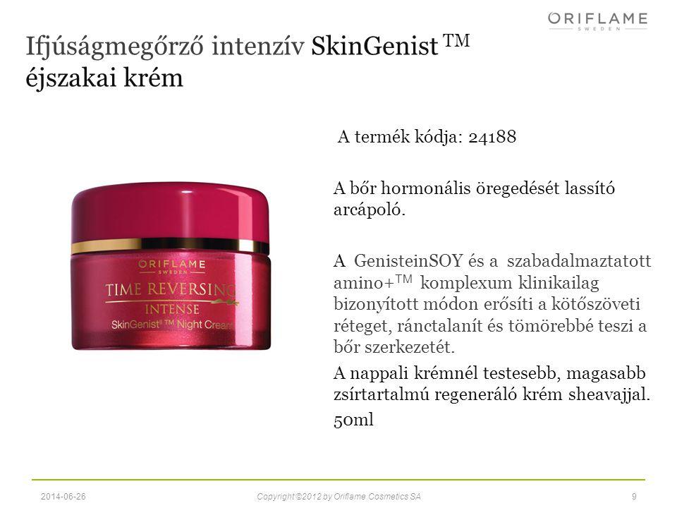 A termék kódja : 24667 A GenisteinSOY és a szabadalmaztatott amino+ TM komplex javítja a szemkörnyék bőrének megjelenését.