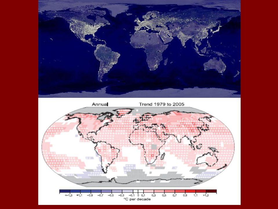 Potenciális katasztrófa-ugrások Jelenség Globális küszöb Időskála Következmény Arktikus jégtakaró, nyáron +0,5–2 o C ~ 10 év (gyors) + melegedés Grönlandi jéghátság, + 1 – 2 o C ~ 300 év (tartós) + 2-7 m vízemelkedés Ny-antarktiszi self-jégtömb + 3 – 5 o C ~ 300 év (lassú) + 5 m vízemelkedés É-atlanti szállító- szalag gyengül + 3 – 5 o C ~ 100 év(fokozatos) helyi lehűlés, nem jégkorszak El.Nino –, Déli Oszcilláció + 3 – 6 o C ~ 100 év(fokozatos) helyi aszályok, máshol árvízek • 1786–1793 PNAS February 12, 2008 vol.