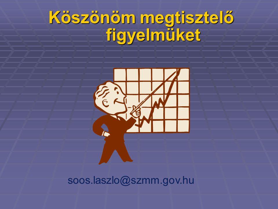 Köszönöm megtisztelő figyelmüket soos.laszlo@szmm.gov.hu