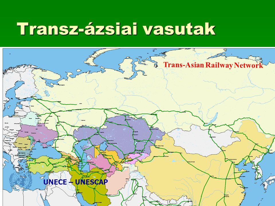 Transz-ázsiai vasutak UNECE – UNESCAP Trans-Asian Railway Network