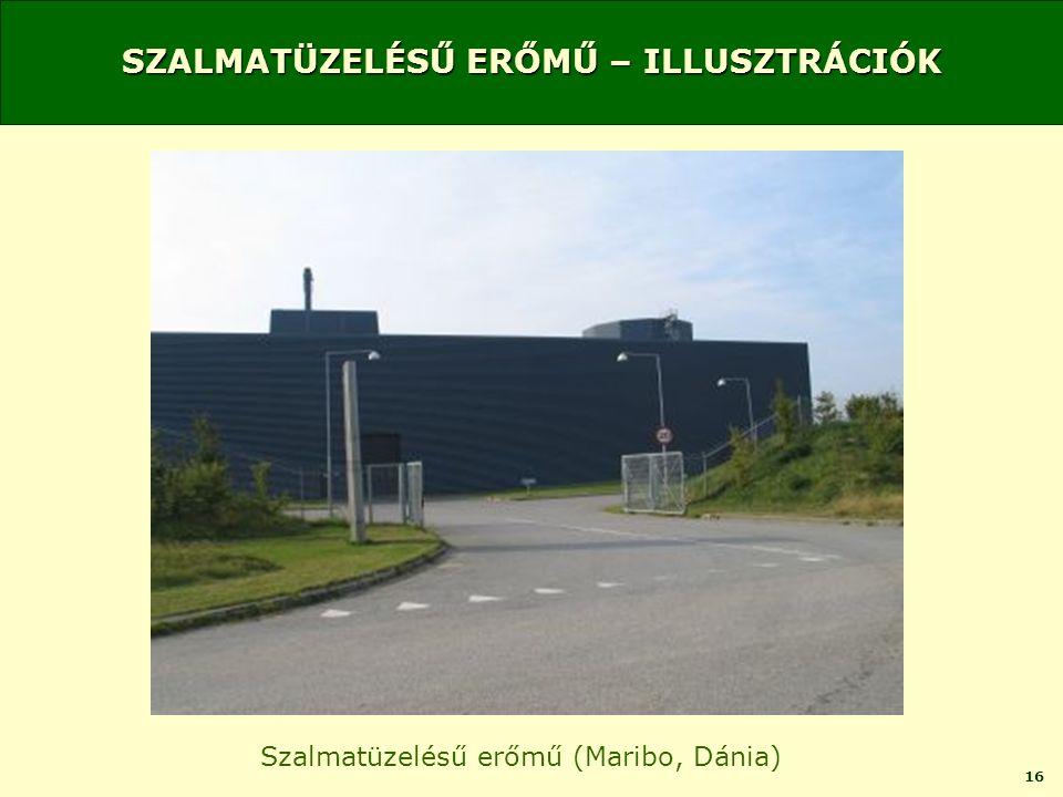 16 SZALMATÜZELÉSŰ ERŐMŰ – ILLUSZTRÁCIÓK Szalmatüzelésű erőmű (Maribo, Dánia)