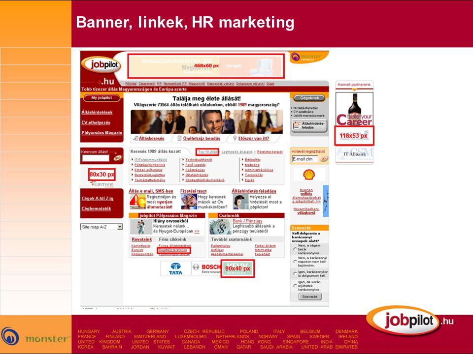 Banner, linkek, HR marketing