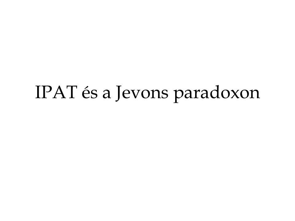 IPAT és a Jevons paradoxon