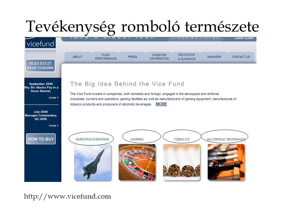 Tevékenység romboló természete http://www.vicefund.com