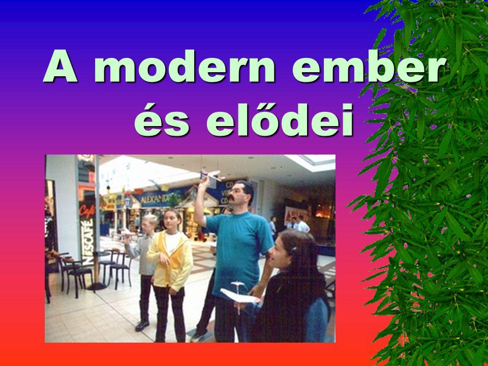 A modern ember és elődei