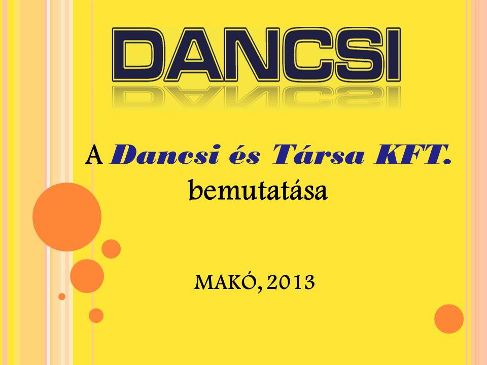 MAKÓ, 2013 A Dancsi és Társa KFT. bemutatása